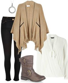 Autumn outfit with beige knitted cape Knitted Cape, Blog Love, Must Have Items, Outfit Of The Day, Fall Outfits, What To Wear, Latest Trends, Topshop, Plus Size