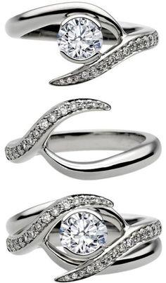 Un anillo de #compromiso que luego con el casamiento, forman uno solo, ¿Qué les parece? A mí me encantó.