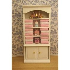 Miniature Bathroom Cabinet Filled with Towels $16.99