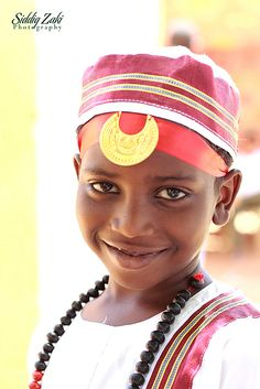 Sudanese boy in traditional clothes