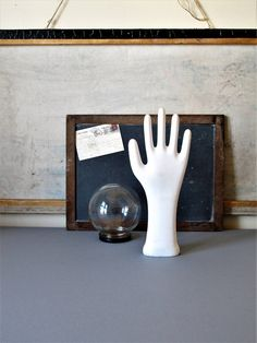 Vintage industrial  porcelain glove mold, hand mold display. by JustynaMrugala on Etsy