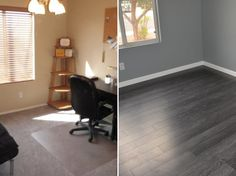 """From standard to spectacular! This bedroom got a GRAY upgrade! """"Very easy to install with the right saws and tools."""" - Brian, AZ"""