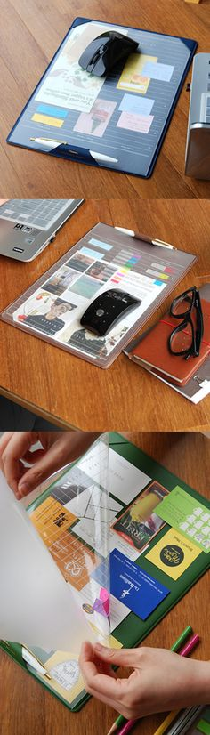 The Mini Leather Desk Pad is a multifunctional pad, that can be used for many different purposes. It helps you to check your weekly plans, things to do and also holds business cards, memos, and documents under the PVC layer! Plus, it can be used as a mouse pad too!