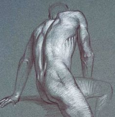 It's hard to imagine that anyone would tell another to give up on art. It's even harder to believe that this happened to the artist of this figure drawing.
