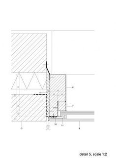 Stamp Window - DMOA architects Architecture Graphics, Architecture Drawings, Interior Architecture, Window Detail, Door Detail, Detailed Drawings, Window Design, Facade, Brick