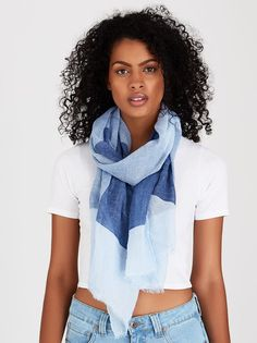 Check Scarf Blue