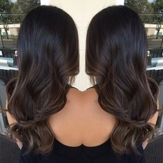Image result for black brown balayage subtle