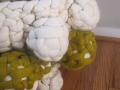 Knit felt anthropod vessel sculpture by modernfiberlab on Etsy