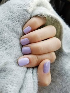Cozy lavender nails