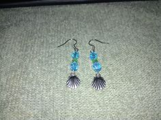 Sea Shell/Glass Bead Earrings