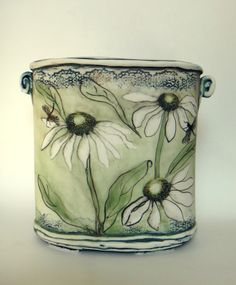 Christine Williams porcelain - using greens!