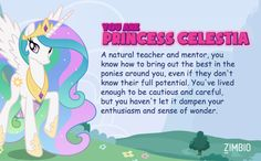Princess Celestia IM PRINCESS CELESTIA!!! YASS MY DREAMS HAVE COME TRUE!! :D