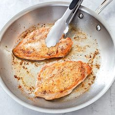 Crispy-Skinned Chicken Breasts with Lemon-Rosemary Pan Sauce - Cook's Illustrated