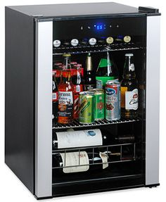 "Shallow depth beverage refrigerator 18"" deep Entry"