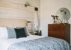 Inside a Century-Old, Contemporary Colonial | Design*Sponge...love the wall