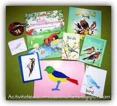 Despre pasari. Activitati educative (2 ani si 8 luni) Montessori, Spring Activities, Birds, Stickers, Inspiration, Art, Biblical Inspiration, Art Background, Kunst