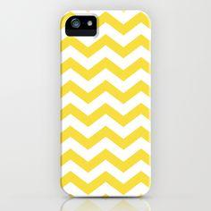 Yellow Chevron Pattern Geomoetric Zig Zag iPhone Case