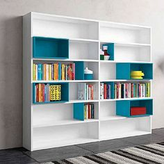 Italian Design \'Rectangular\' Bookcase. White, elegant and unique ...