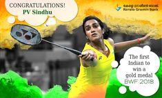 Congratulations P V Sindhu, you have made all Indians proud with your victory! #keralagraminbank #kgb #pvsindhu #bwf #goldmedal #won P V Sindhu, World Cricket, Olympic Champion, Badminton, Kerala, Victorious, Olympics, Congratulations, Seasons