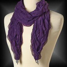 Purple Beadable Scarf