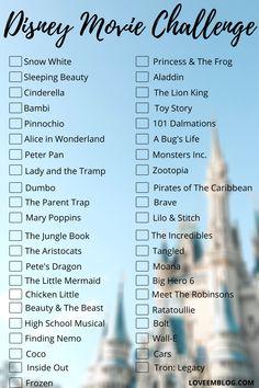 Disney Movie Challenge!
