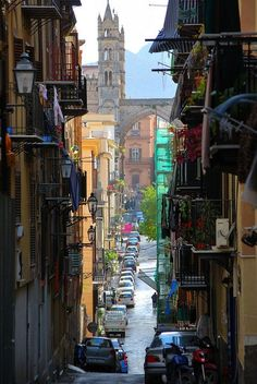 Streets of Palermo, Sicily, Italy.