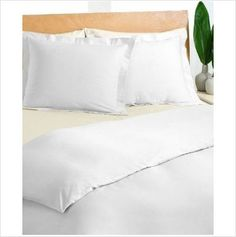 Charter Club Damask Solid 500 TC Thread Count Queen Duvet Cover White NEW $170