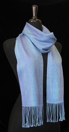 Handwoven scarf by Madeline Shinbach. Photo by Aimee Radman