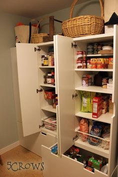 ikea stuva children's furniture as pantry storage - for food storage or extra storage in mudroom....YA LO TENGO!!!