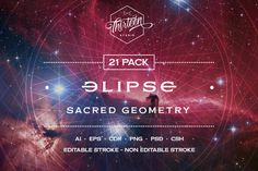 Elipse Sacred Geometry by Thirteen Studio on @creativemarket
