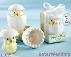 Chick Baby shower favor TC015 with Organza Bow #weddingfavors, #babyshowerfavors, #Thank you gifts #weddingdecoration #jars #weddinggifts #birthdaygift #valentinesgifts #partygifts #partyfavors #novelties #easter #eastereggs #easteregg
