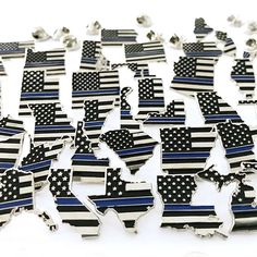 Thin Blue Line State Pins - Thin Blue Line USA Star Cookies, Cut Out Cookies, Empire Cookie, Support Local, Shape Of You, Thin Blue Lines, Days Out, Chrome Plating, Law Enforcement