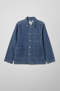 Generic Denver Blue Jacket - Blue - Jackets  #denver #generic #jacket #jackets Denim Button Up, Button Up Shirts, Fashion Brand, Mens Fashion, Denim Jacket Men, Youth Culture, Metal Buttons, Organic Cotton, Street Style