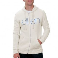 The Ellen DeGeneres Show Shop - THE CLASSIC HOODIE OFF WHITE AND BLUE