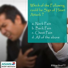 which of the following could be a sign of a #HeartAttack?   Comment with your answers....  #Heartbeat72