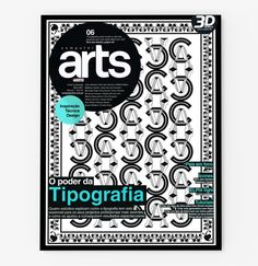 Computer Arts PT Cover by Ana Types Type, via Behance
