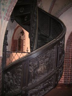 The Castle of the Teutonic Order in Malbork, Poland Beautiful Home Gardens, Beautiful Homes, Malbork Castle, Travel Trailer Remodel, Early Middle Ages, Spiral Staircases, Dollhouse Ideas, Manor Houses, Stairway To Heaven