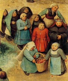 "windypoplarsroom:     Pieter  Brueghel  ""Children's Games- Detail"""