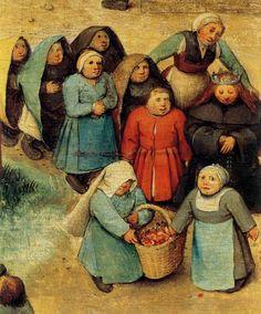 """windypoplarsroom: Pieter Brueghel """"Children's Games- Detail"""""""