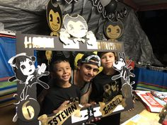 Bendy and the Ink Machine Birthday Party Ideas Twin Birthday, 11th Birthday, 4th Birthday Parties, Birthday Ideas, Diana Son, Background Decoration, Anime Version, Bendy And The Ink Machine, Party Themes