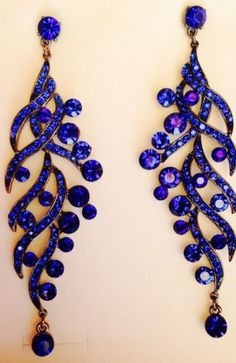Givenchy Gothic Clip-On Chandelier Earrings ($915) ❤ liked on ...:royal blue chandelier earrings,Lighting