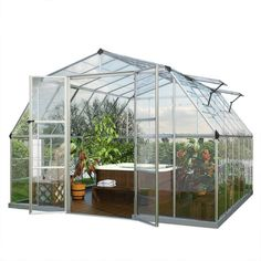 Americana 12 Foot x 12 Foot Hybrid Greenhouse #Greenhouses