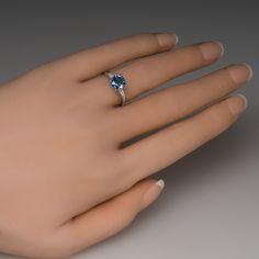 Best in Seattle Blue Sapphire Engagement Ring Platinum