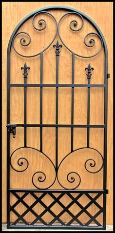 The Louviere Iron Wine Cellar Door or Gate with French Styling