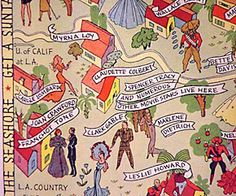 Art Deco map of Hollywood 1937 (detail)