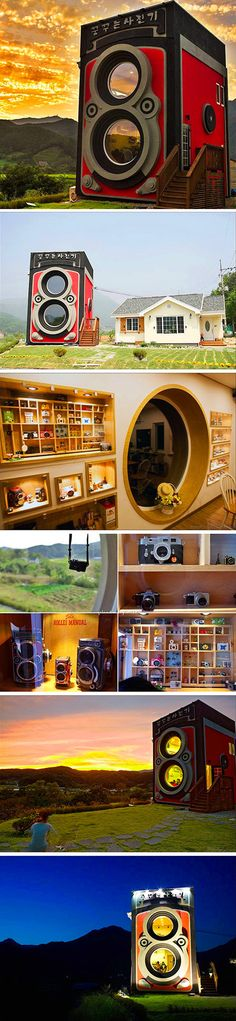 There's an unusual place in the world where you can drink coffee in a building that's shaped like an enormous Rolleiflex camera. Located about six miles east of Seoul, South Korea, the Dreaming Camera Cafe is two-storey building that's both a coffee shop and a miniature camera museum. The unique combination makes this place a must-visit if you're a fan of photography and lattes.