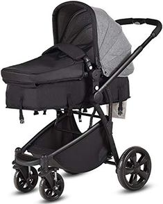 Costzon Infant Stroller, Foldable Baby Toddler Stroller, Convertible Bassinet Reclining Stroller Compact Single Baby Carriage with Adjustable Handlebar and Storage Basket (Gray) Toddler Stroller, Pram Stroller, Infant Toddler, Double Strollers, Baby Strollers, Baby Items For Sale, Baby Carriage, Traveling With Baby, Bebe