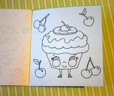 cupcake coloring book!