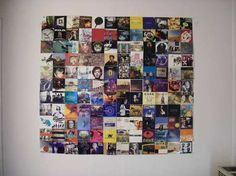 Different CD pictures put together to create one large photograph....