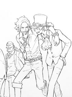 One Piece Nissin Cup Noodles Huungy days Commercial - Ace and Sabo Character Art, Character Design, Ace Sabo Luffy, Nami One Piece, One Piece Fanart, Fandom, Anime Sketch, Ship Art, Drawing Reference